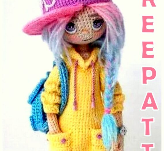 Amigurumi Doll with Hat Free Crochet Pattern