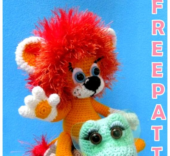 Amigurumi Lion and Tortoise Free Crochet Pattern