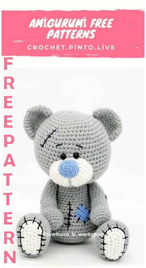 Free Amigurumi Cute Teddy Bear Crochet Pattern